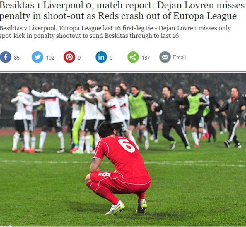 THE TELEGRAPH: Dejan Lovren penaltıyı kaçırdı ve Liverpool Avrupa Ligi'nden elendi.