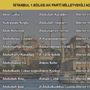 İŞTE AK PARTİ'NİN TÜM ADAY ADAYLARI!