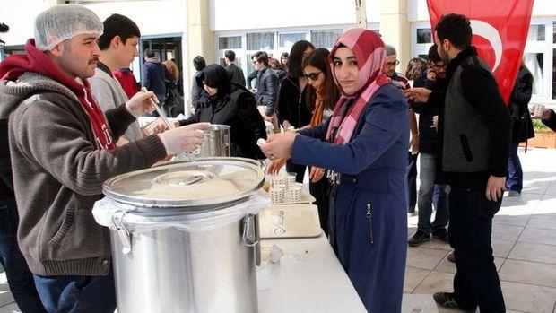 Üniversite öğrencilerine Çanakkale Menüsü