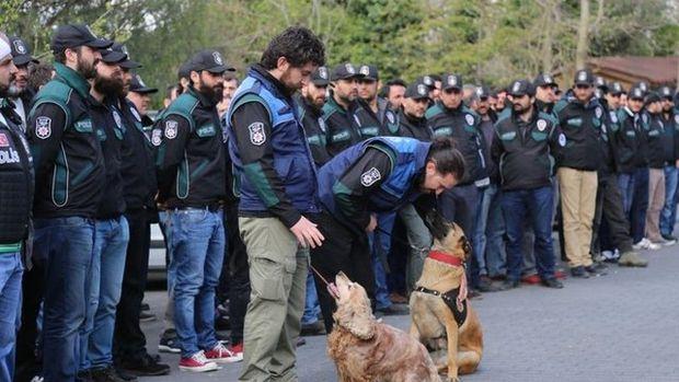400 polisli operasyondan görüntüler