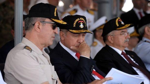"""Cumhurbaşkanı Erdoğan tatbikatı """"başkomutan"""" sıfatıyla izledi"""