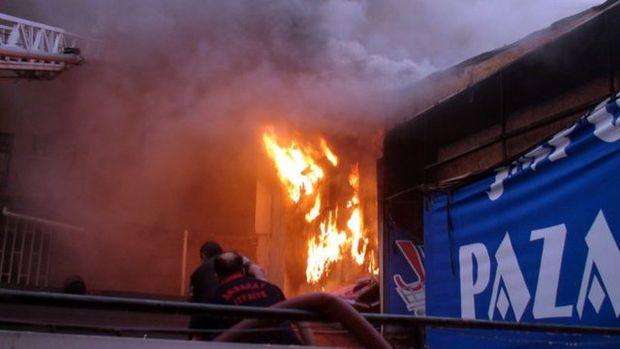 Aksaray'da AVM'deki yangından görüntüler!