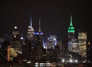 Empire State binası Ramazan Bayramı nedeniyle yeşile büründü