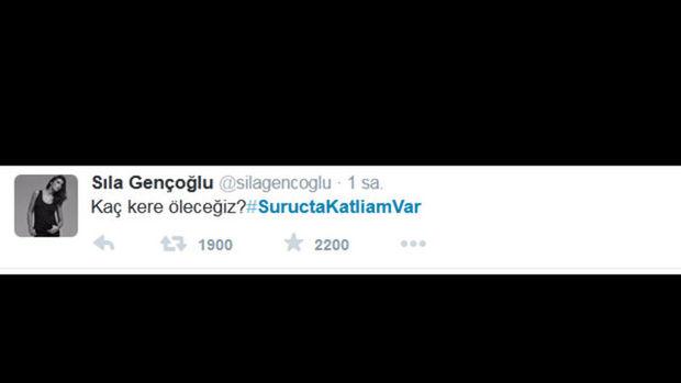 Ünlüler Twitter'da Suruç saldırısını lanetledi!
