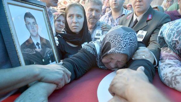 Şehit Uzman Çavuş Ziya Sarpkaya'nın cenazesinden kareler