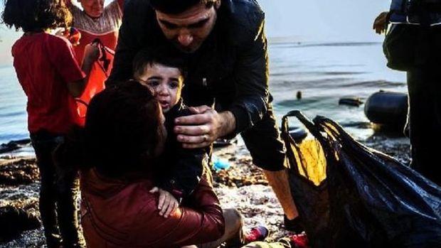 Bodrum'da kaçak teknesi battı