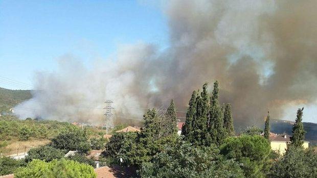 Tuzla Piyade Okulu yanıyor!