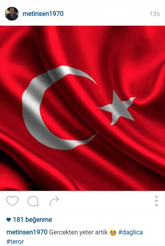 METİN ŞEN'İN İNSTAGRAMDAN PAYLAŞTIĞI FOTOĞRAF