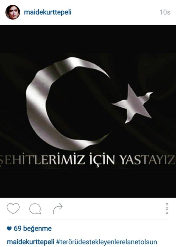 MAİDE KURTTEPELİ'NİN İNSTAGRAMDAN PAYLAŞTIĞI FOTOĞRAF
