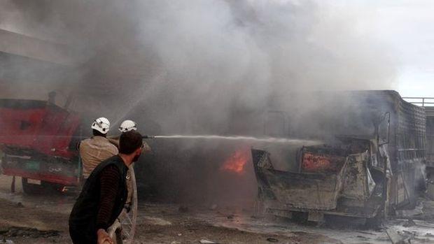 İşte Azez bombardımanından görüntüler