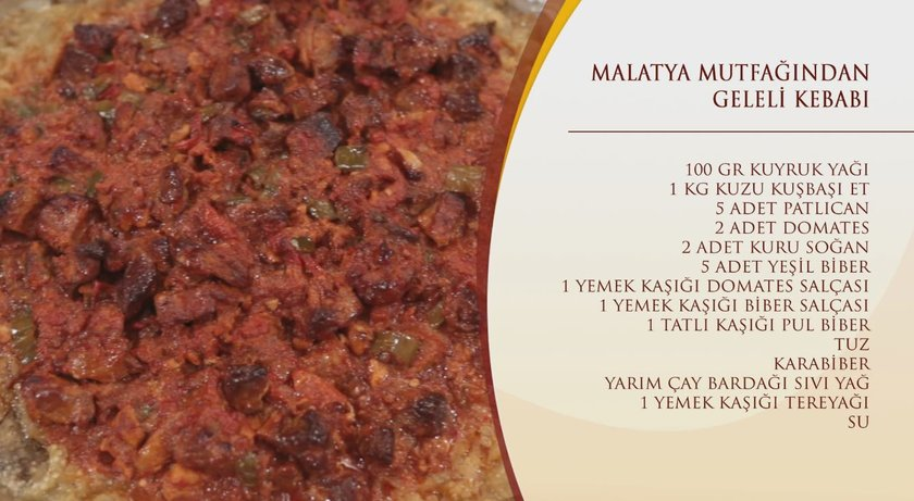 Malatya Geleli Kebabı