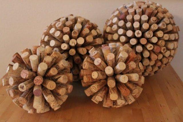 Şarap mantarlarından yapılan enterasan tasarımlar