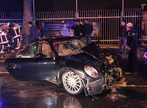 Sinan Çetin'in oğlu kaza yaptı