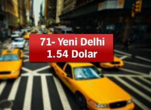 Dünyada taksi ücretleri (5 km'lik mesafe için)