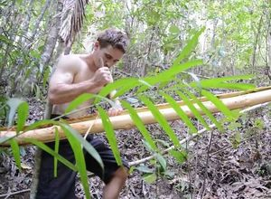 Ağaç liflerini kullanarak yaptı!