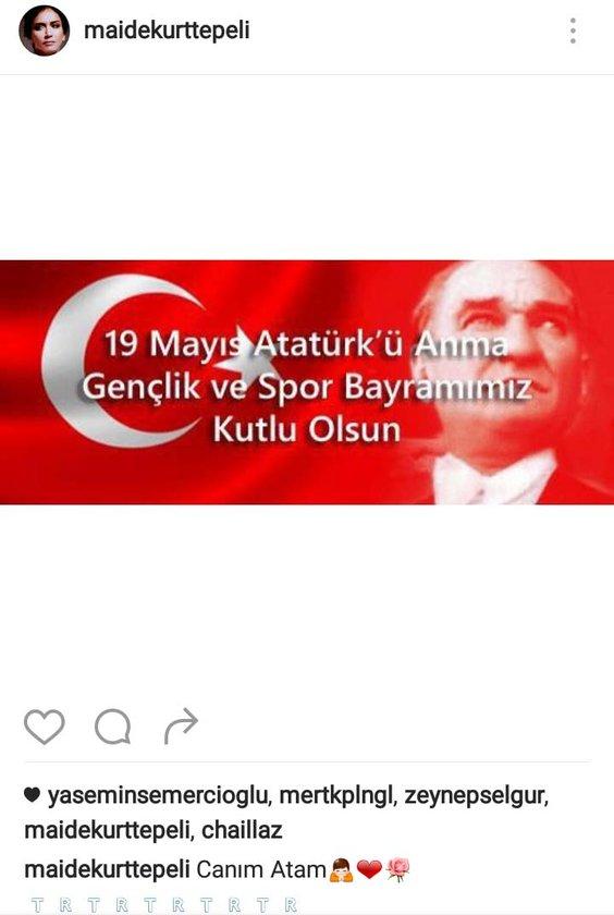 <p>MAİDE KURTTEPELİ'NİN SOSYAL MEDYADAN PAYLAŞTIĞI FOTOĞRAF</p>