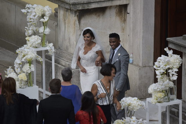 Samuel Eto'o Georgette Tra Lou ile İtalya'da evlendi