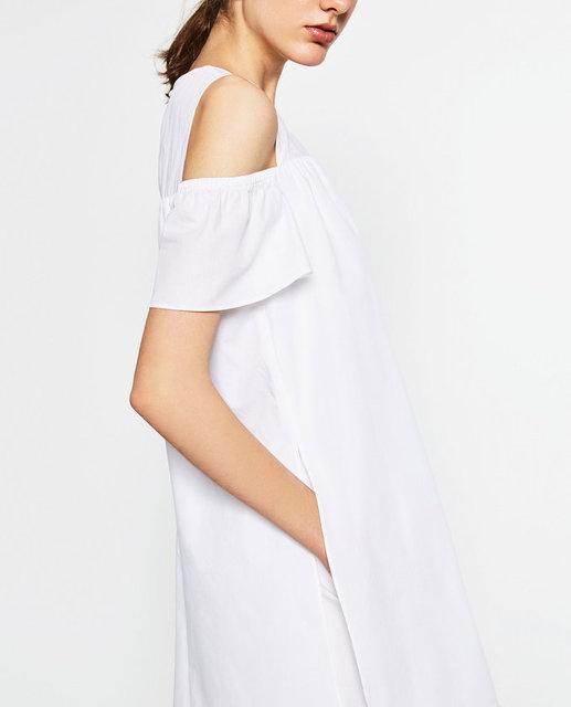 Yazın en yeni trendi omuz detaylı elbiseler