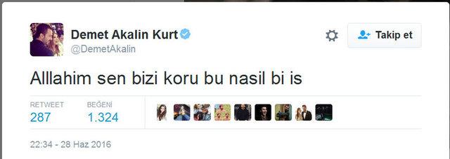 Ünlülerden Atatürk Havalimanı'ndaki saldırıya tepki