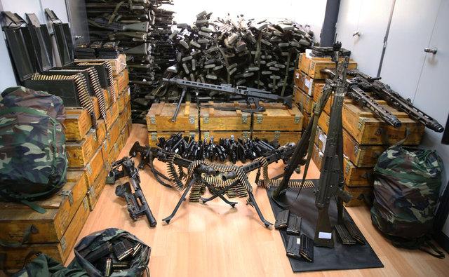 FETÖ'nün darbe girişimi sırasında kullanılan silah ve mühimmatlar