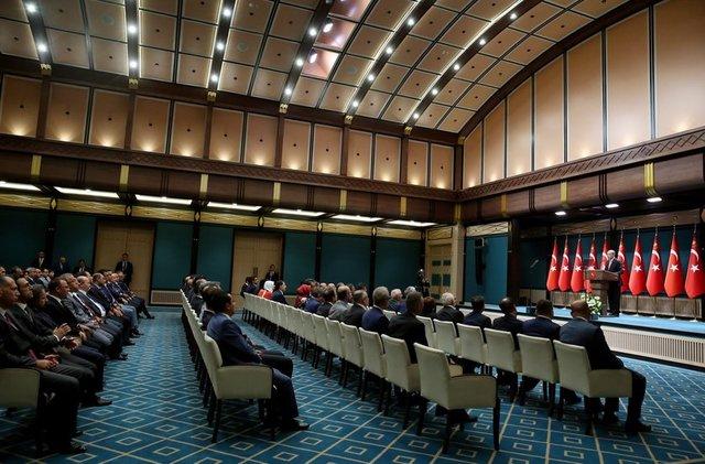 Erdoğan barolar birliği heyetini kabul etti