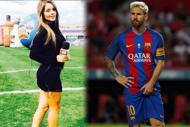 "Model ve gazeteci olan Alejandra Buitrago, ""En sevdiğim futbolcu Kolombiyalı Lionel Messi"" dedi."