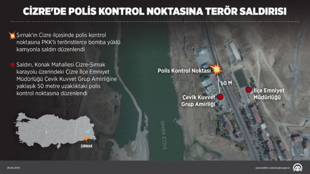 Şırnak'taki alçak terör saldırısından sonra ilk görüntüler