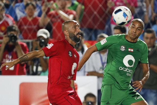 Manchester United, Barcelona, Real Madrid gibi takımlarda forma giymiş efsane futbolcular, Lübnan karmasıyla karşılaştı.