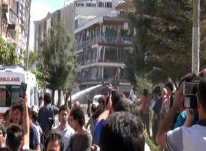 Van'daki şiddetli patlamadan ilk kareler