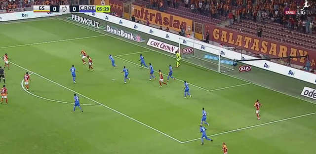 Süper Lig'in 4. haftasında Rizespor'u konuk eden Galatasaray'da Eren Derdiyok'un attığı gol herkesin ağzını açık bıraktı.
