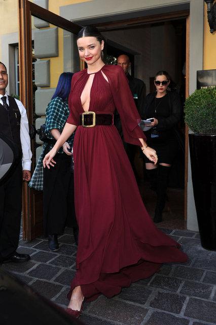 Ünlü model Miranda Kerr Milano Moda Haftası'ında boy gösterdi.