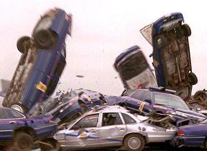 Tam bir otomobil katliamı yaşandı!