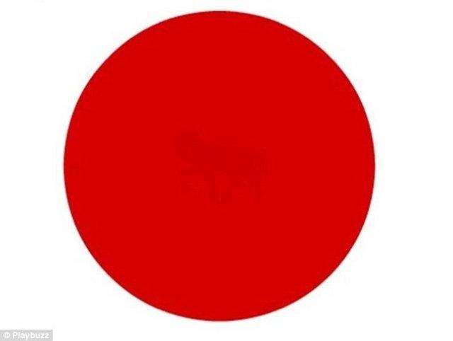 Bu kırmızı dairenin ortasında bir resim gizli, ne olduğunu görebildiniz mi?