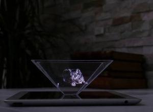 Akıllı telefonlar ile 3 boyutlu hologram yapımı