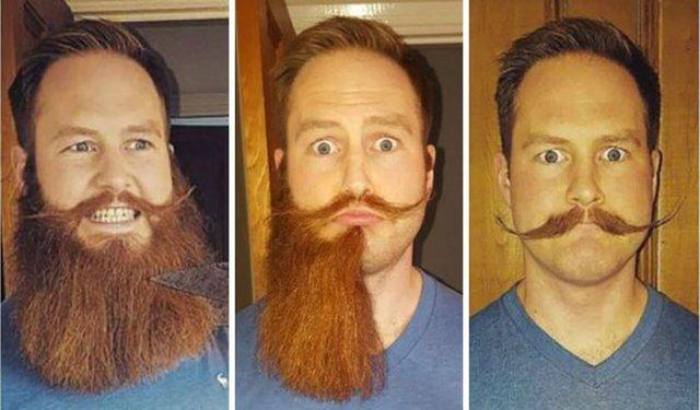Nasıl ki kadınlar görünüşlerini saç ya da makyaj ile kolayca değiştirebiliyorsa erkekler de saç ve sakal yardımıyla farklı bir kişiye bürünebiliyor. İşte sakallarını kestiren insanların inanılmaz değişimi...