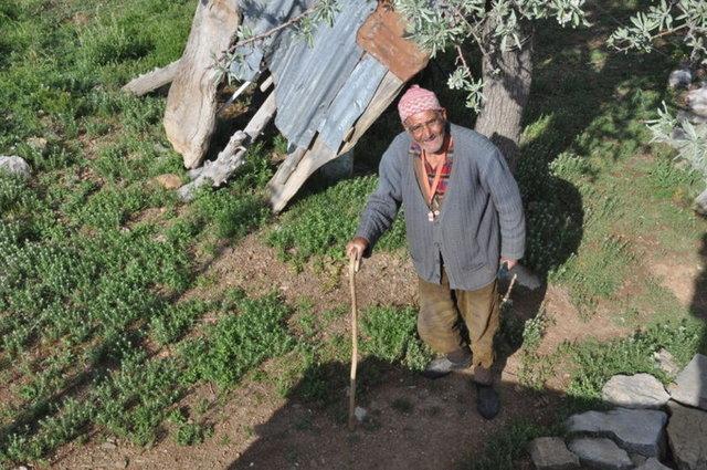 """Konya'da 81 yaşındaki keçi çobanı Durali Kaba, 47 yıl önce belediye başkanının """"Keçileri mahallenin içinden geçirme"""" uyarısından sonra """"Bir daha buraya ayak basmam"""" diyerek terk ettiği mahalleye sadece seçimlerde kısa süreliğine iniyor"""