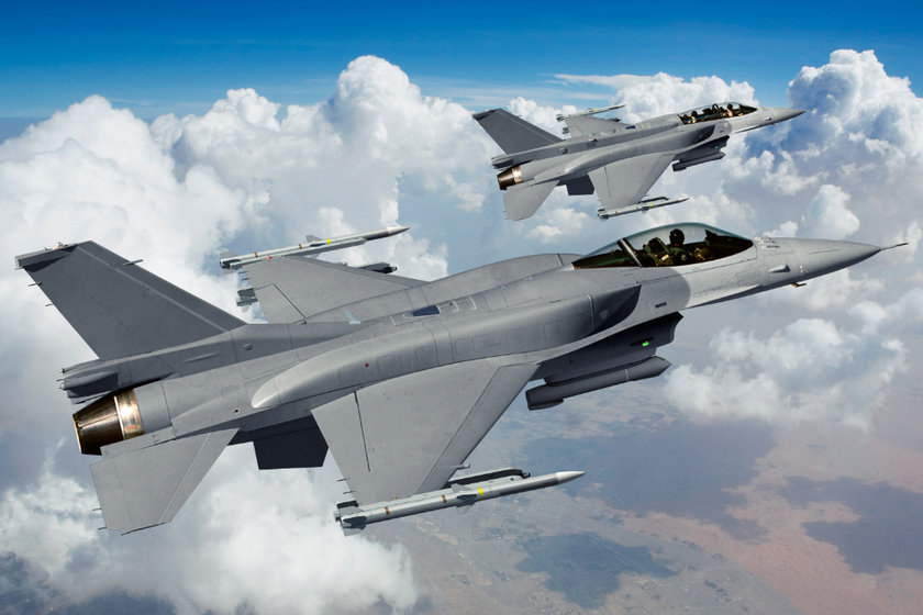 <p>General Dynamics F-16 Fighting Falcon - ABD</p>
