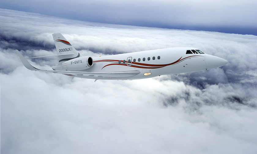 <p>Dassault Falcon 2000LXS - FRANSA</p>