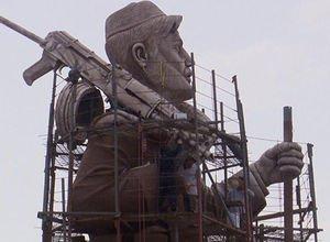 Kerkük'te peşmerge heykeli kriz yarattı