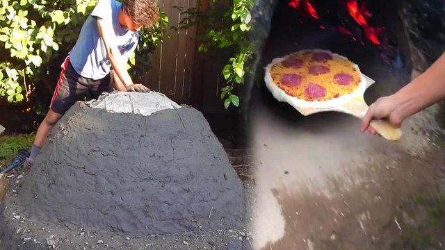 Youtube'da kanalı olan Winston Hackett adındaki bir genç, evlerinin bahçesine kilden fırın yaptı