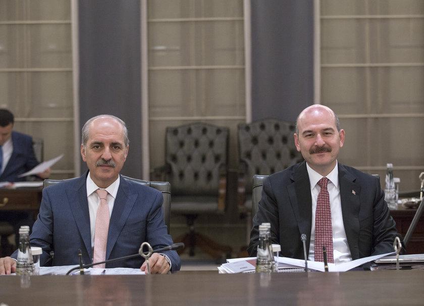 <p>İçişleri Bakanı Süleyman Soylu (sağda)</p>\n<p>Kültür ve Turizm Bakanı Numan Kurtulmuş (solda)</p>