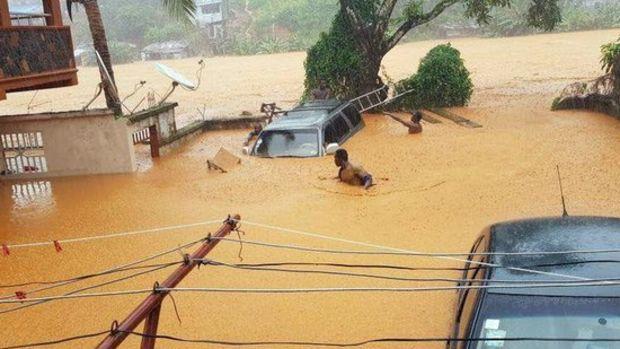 Sierra Leone'de toprak kayması