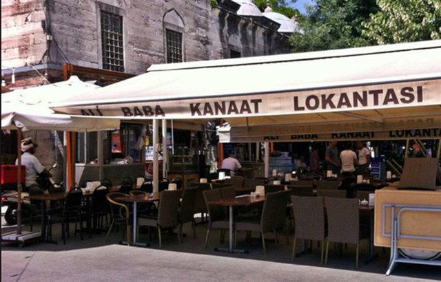 ALİ BABA KANAAT LOKANTASI İstanbul , Süleymaniye NE YENİR? Fasulye, turşu, ekmek, patlıcan musakka, kadayıf, kabak