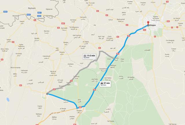 Yolculuğun rotası: Halep - İdlib