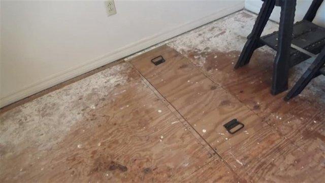 Jeff Horchoff isimli YouTube fenomeni, evinin zemin bölmesini açtığında takipçileri şaşkına döndü.