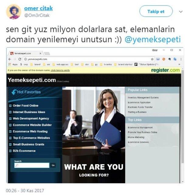 Türkiye'de birçok kişinin yemek siparişi için kullandığı YemekSepeti'nin web sayfası ve mobil uygulaması çalışmayınca sosyal medya kullanıcıları da boş durmadı. İşte güldüren o tweetler...