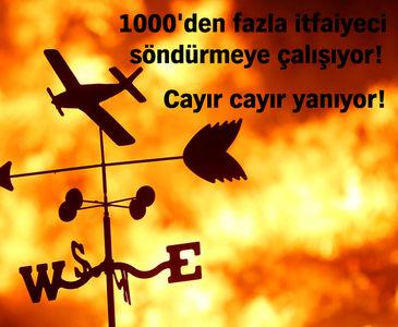 KALİFORNİYA'DA KORKUNÇ YANGIN!