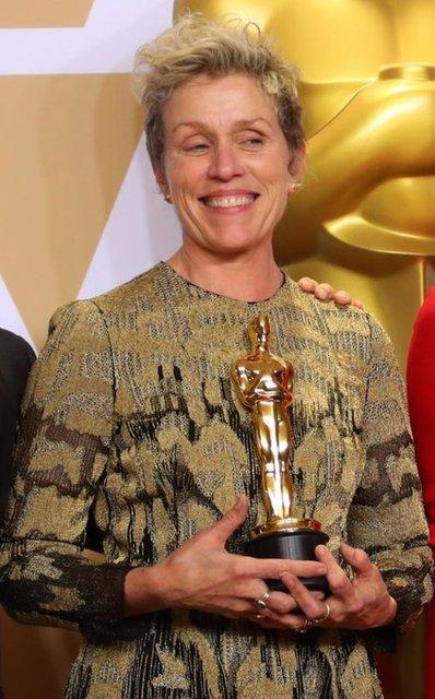 En İyi Kadın Oyuncu Oscar'ını kazanan Frances McDormand