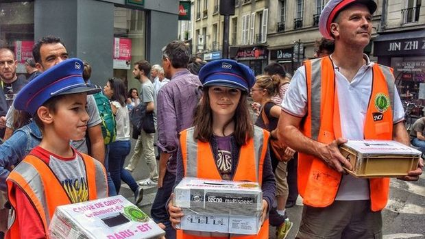 Fransa'daki demiryolu protestoları