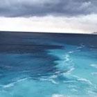 Şaşkına çeviren manzara! Denizin altında kaynayan su